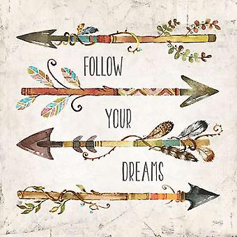 Follow Your Dreams Poster Print by Marla Rae (12 x 12)