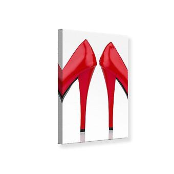 Canvas Print Close Up High Heels