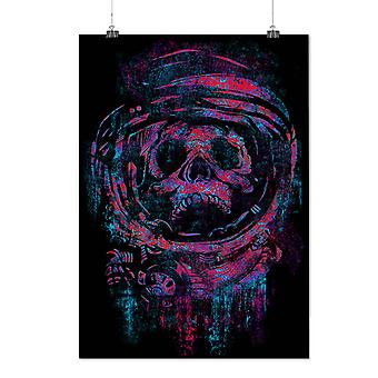 Matte or Glossy Poster with Skull Astronaut Space | Wellcoda | *d1975