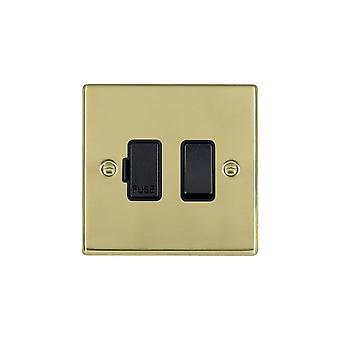 Hamilton Litestat Hartland Polished Brass 1g 13A DP Fused Spur BL/BL