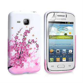 Yousave Accessories Samsung Galaxy Young Floral Bee Silicone Gel Case