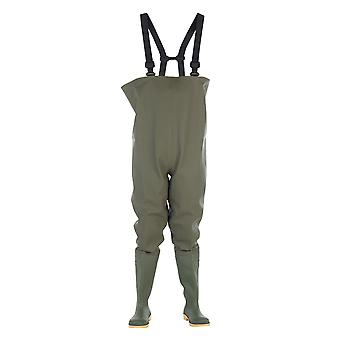 Dikamar Administrator Chest Wader / Mens Boots / Plain Rubber Wellingtons