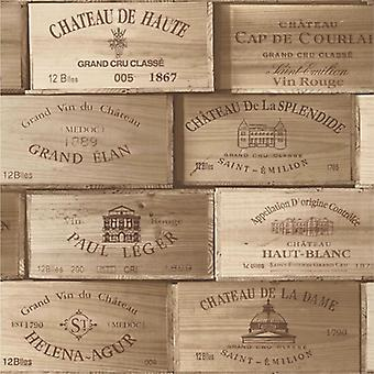 Wood Wooden Effect Wallpaper Wine Box Wood Vintage Crates Bark Retro
