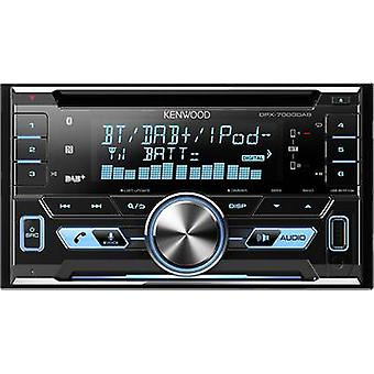 Double DIN car stereo Kenwood DPX-7000DAB DAB+ tuner, Bluetooth handsfree set,