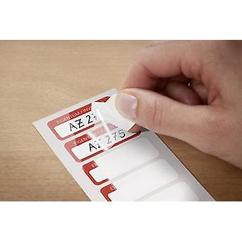 Avery-Zweckform 6902 Labels (hand writable) 50 x 20 mm Polyester film White, Red 50 pc(s) Permanent Stock labels Hand wr