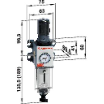 Compressed air filter/regulator Norgren EXCELON® PRO 1/4 Compressed air Max. operating pressure 12 bar