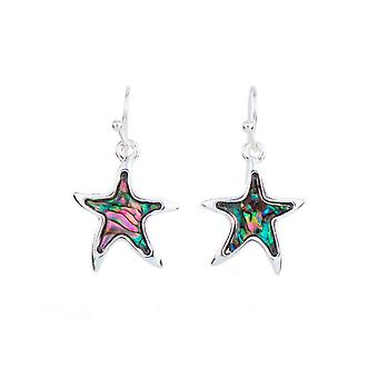 Star abalone earrings