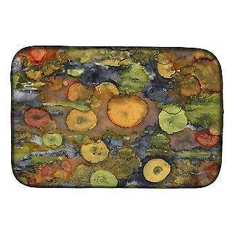 Carolines Treasures  8966DDM Abstract with Mother Earth Dish Drying Mat