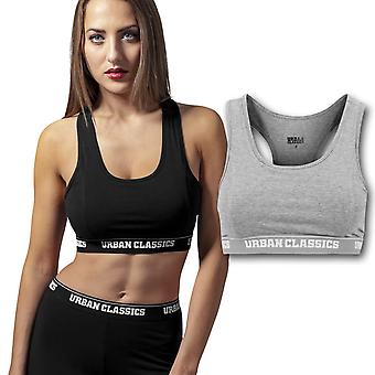 Urban Classics Ladies - SPORTS LOGO BRA