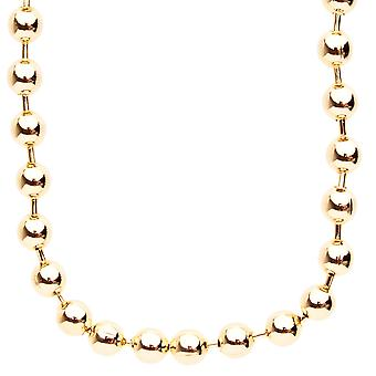 Iced out bling hip hop chain - BALL 8 mm gold
