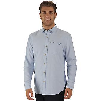 Regatta Herre Benas langærmet Check mønster knappen op skjorte