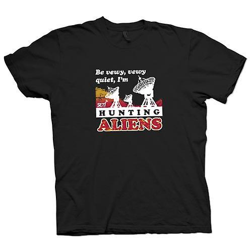 Womens T-shirt - SETI - UFO - Alien jägare - astronomi