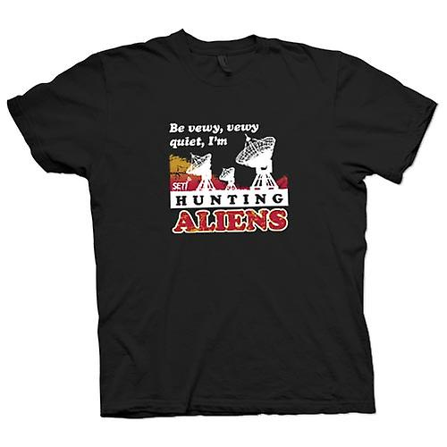 Womens T-shirt - SETI - UFO - Alien Hunters - Astronomy