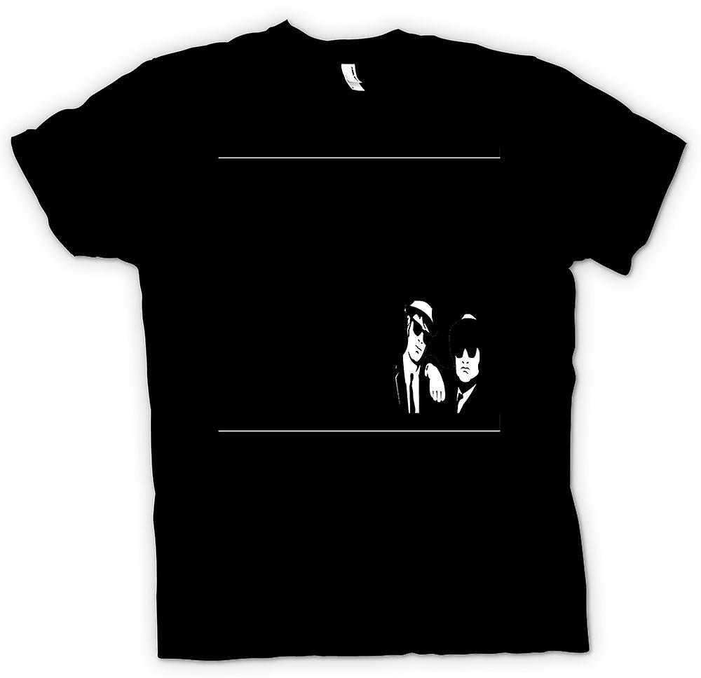 Herr T-shirt - Blues Brothers svart & vit - film