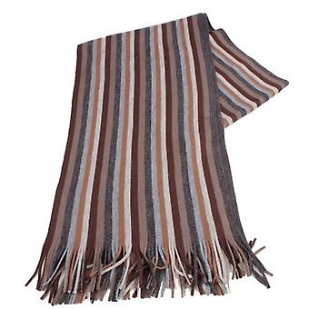 Bassin and Brown Steel Stripe Scarf - Grey/Brown/Khaki