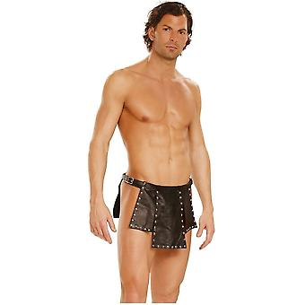 Elegant Moments  EM-L9869 Leather kilt with nail heads and adjustable buckle closure