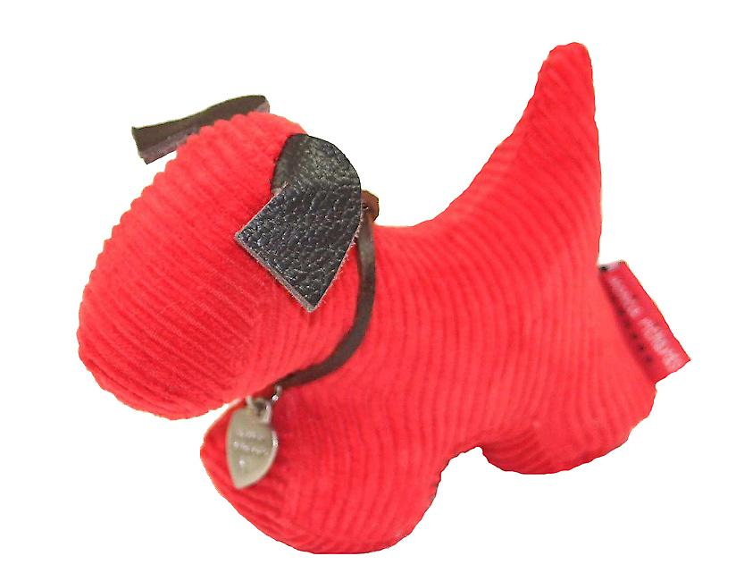 Red Jumbo Cord Dog Paperweight by Monica Richards