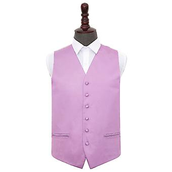 Lilac Plain Satin Wedding Waistcoat