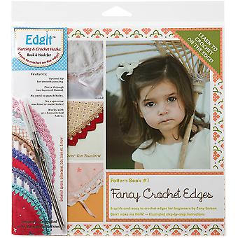 Edgit Piercing Crochet Hook & Book Set-Fancy Crochet Edges