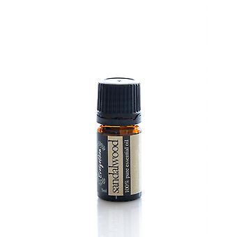 サンダルウッド エッセンシャル オイル、100% 純粋で天然、アロマセラピー 5 ml 用。