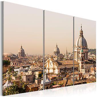 Canvas Print - boven de daken van de eeuwige stad