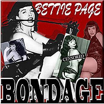 Bettie Page Bondage Steel Fridge Magnet