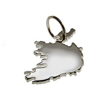 Trailer map Ireland pendant in solid 925 Silver