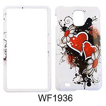 Snap-On Protector tilfelle for Samsung sette mot 4G I997 (vill Twin Hearts og blomster)