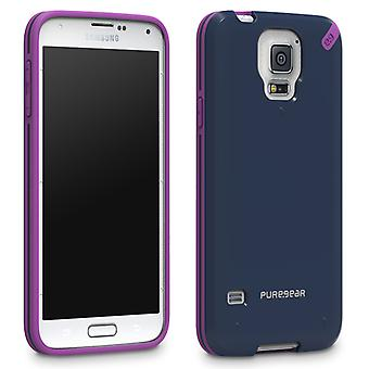 PureGear Slim Snap-On Shell Case for Samsung Galaxy S5 (Mystical Blue)