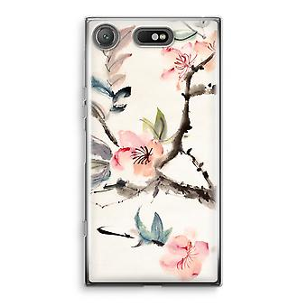 Sony Xperia XZ1 Compact Transparant Case (Soft) - Japenese flowers
