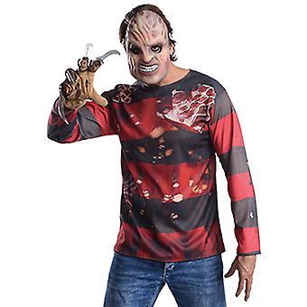 Freddy Kit costume set Freddy Krüger Elmstreet shirt and gloves for adults