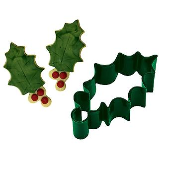 Holly & Berries Christmas Cookie Cutter | Christmas Baking Supplies