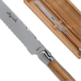 Laguiole bread knife Olive wood Handle Direct from France