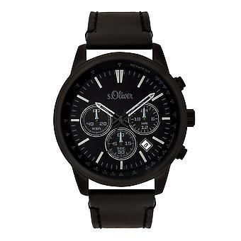s.Oliver メンズ ウォッチ腕時計クロノグラフ革など-3685-LC