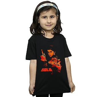 Star Wars Girls Solo Coloured Silhouette T-Shirt