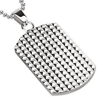 Multi pyramider hund Tag vedhæng, rustfrit stål smykker med kæde
