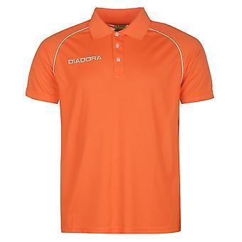 Diadora Mens Madrid Polo Shirt Fold Down Collar Short Sleeve Casual Top