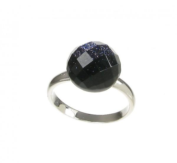Cavendish French bleu Sandstone Faceted Domed Button Ring