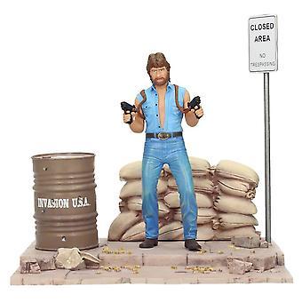 Chuck Norris invasion USA Deluxe sæt karakter Matt Hunter med diorama. Materiale: 100% PVC (plast).