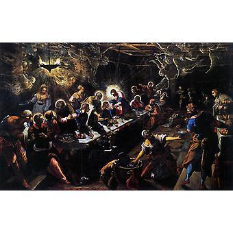 Den sidste nadver, Jacopo Tintoretto, 40x60cm med bakke