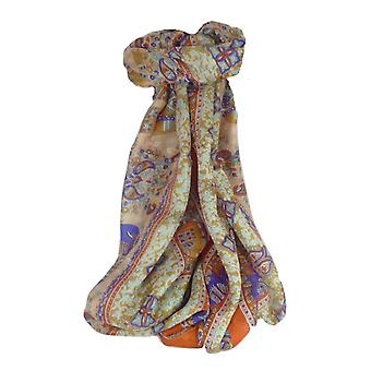 Mulberry Silk Traditional Long Scarf Vish Terracotta by Pashmina & Silk