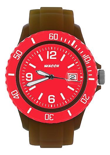 Waooh - muestra MONACO38 Brown dial y bisel color
