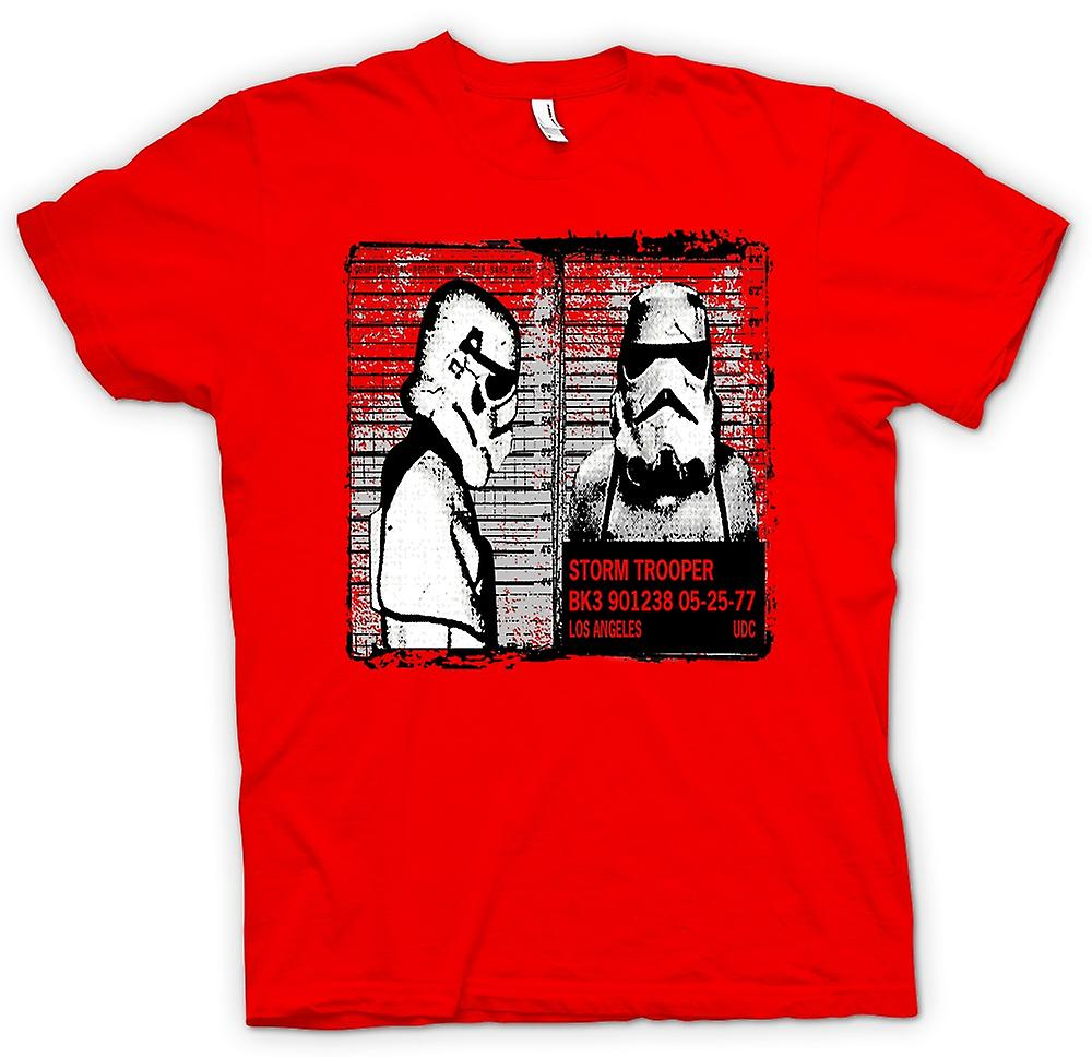 Mens T-shirt - Storm Trooper Mug Shot - lustig