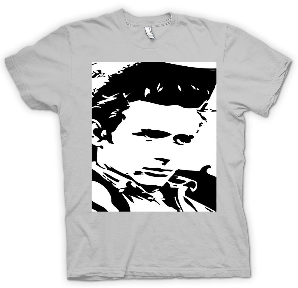 Mens T-shirt-James Dean-Portrait - Icon - BW