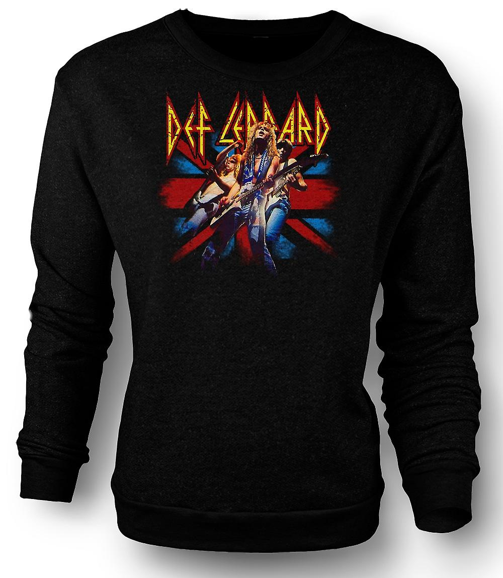 Mens Sweatshirt Def Leppard - brittiska Rock