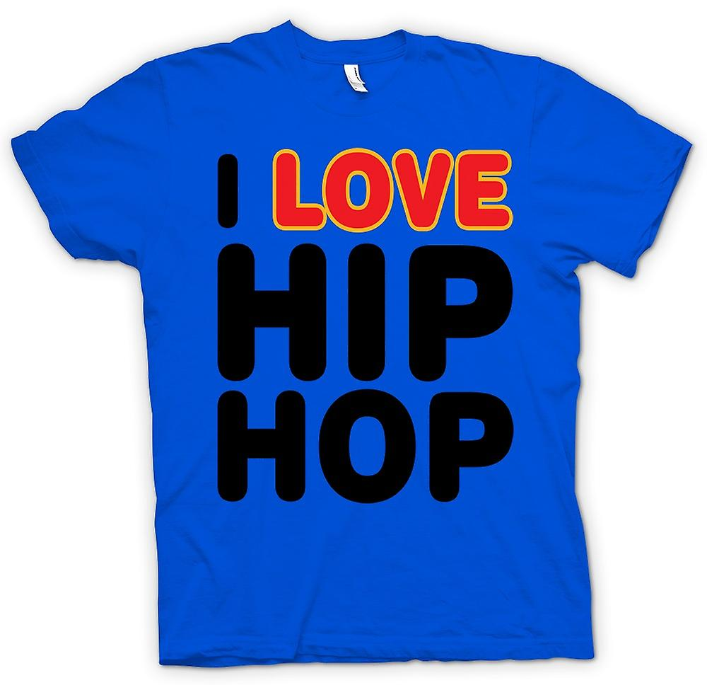 Mens T-shirt - I Love Hip-Hop - lustig