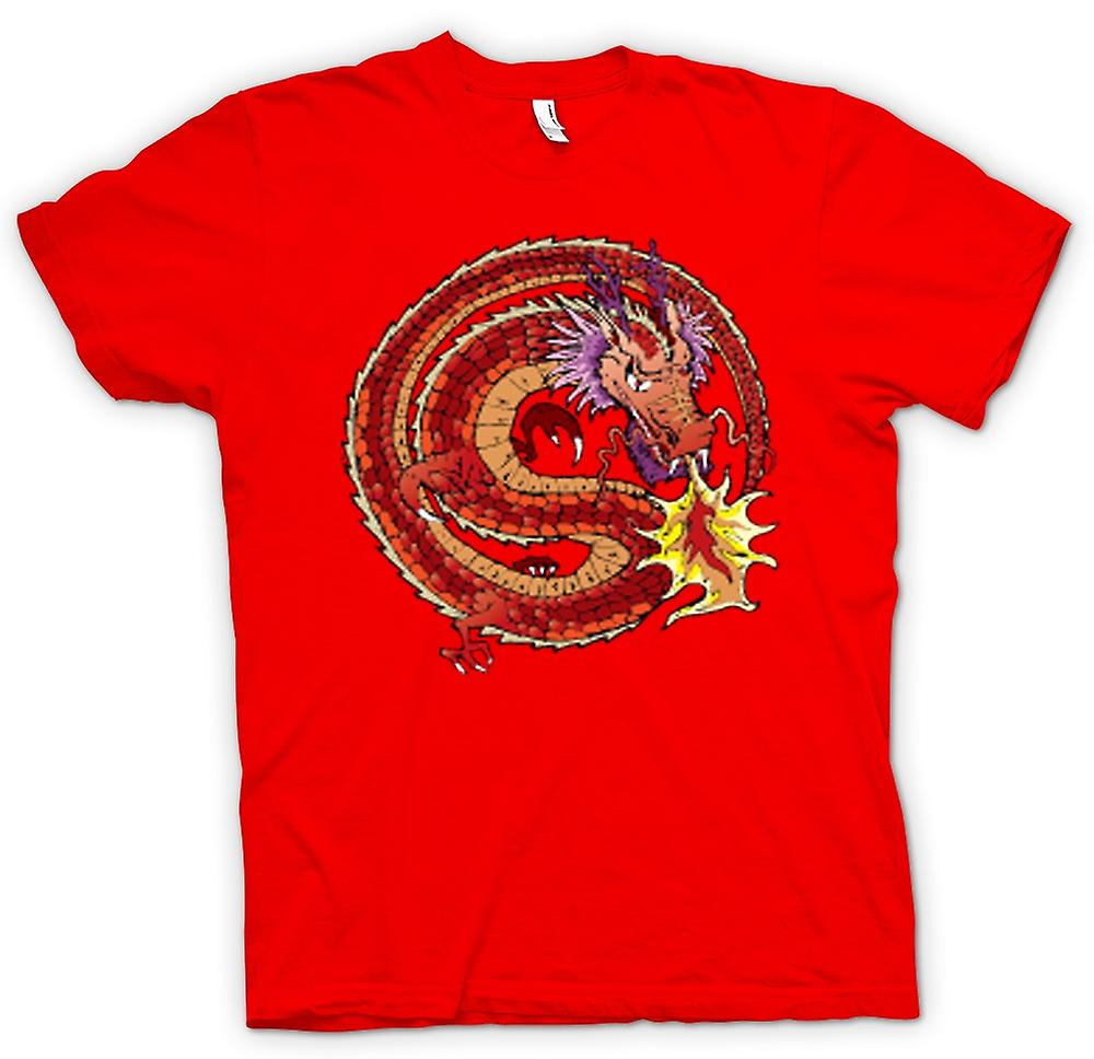 Herr T-shirt-kinesisk drake traditionell Design