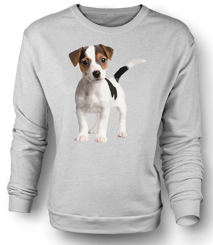Mens Sweatshirt Jack Russell Terrier valp - söt