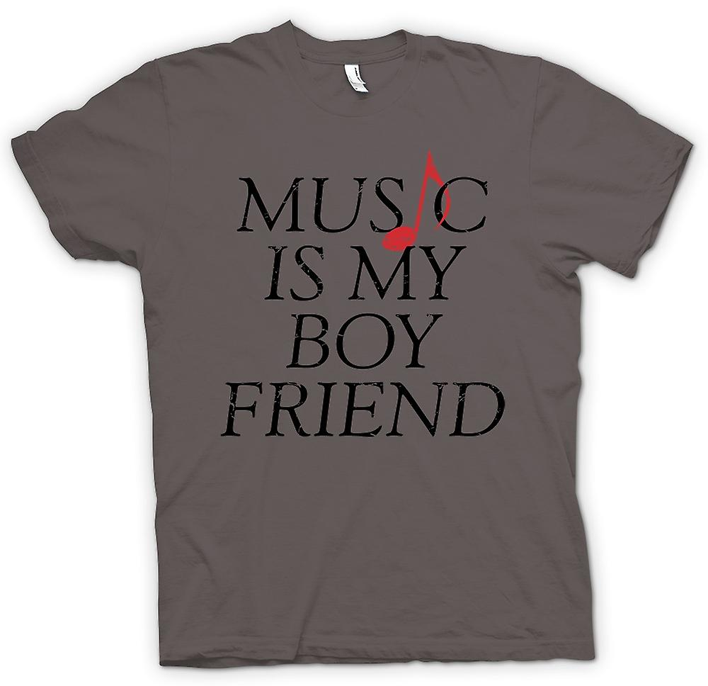 Womens T-shirt - Music Is My Boyfriend