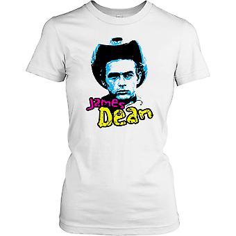 James Dean Cowboy Hat - Screen Legend Ladies T Shirt
